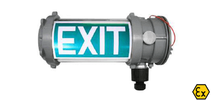 ATEX LED emergency low energy luminaires