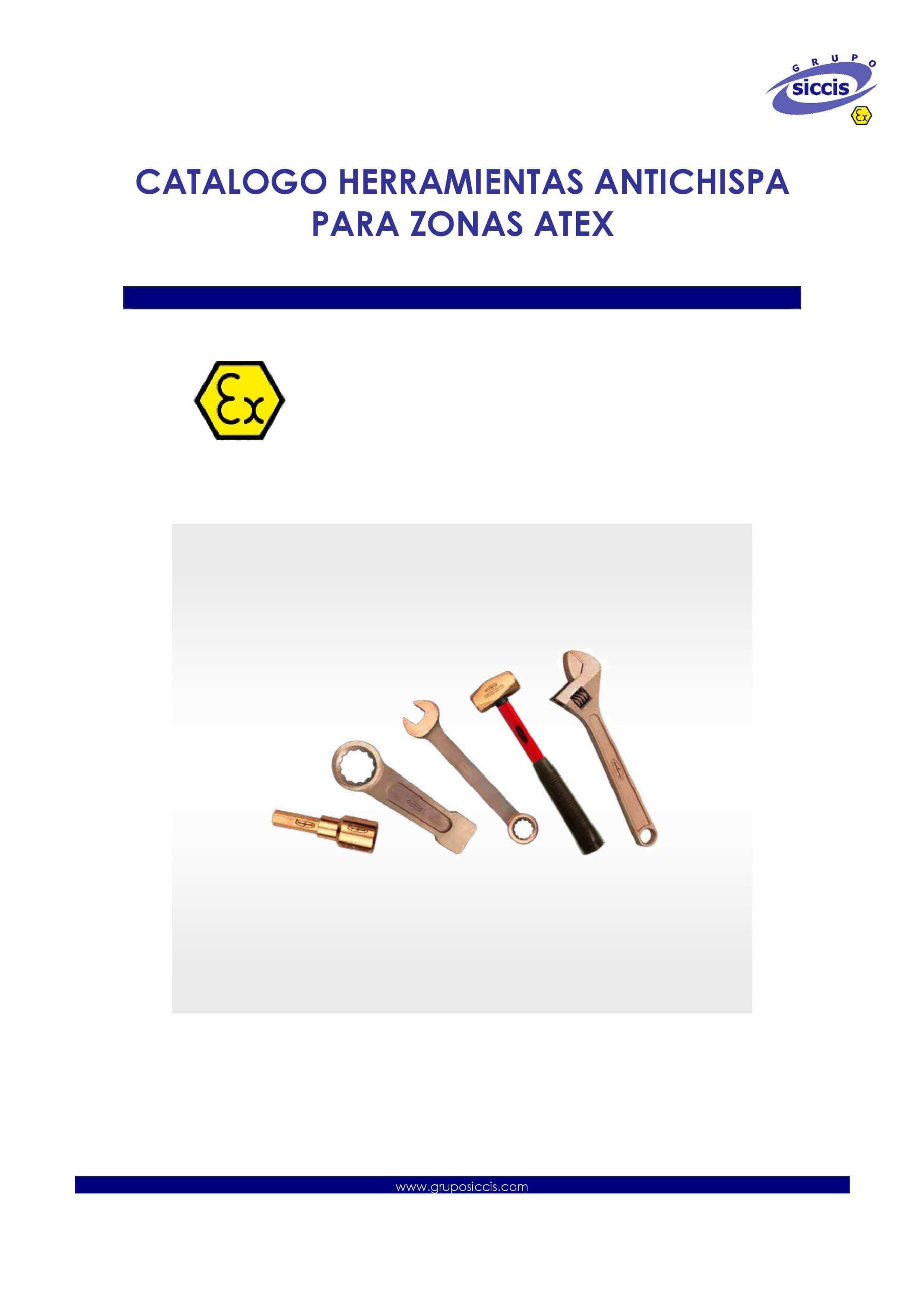 Catálogo de herramientas antichispa ATEX