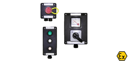 ATEX control boxes and switches