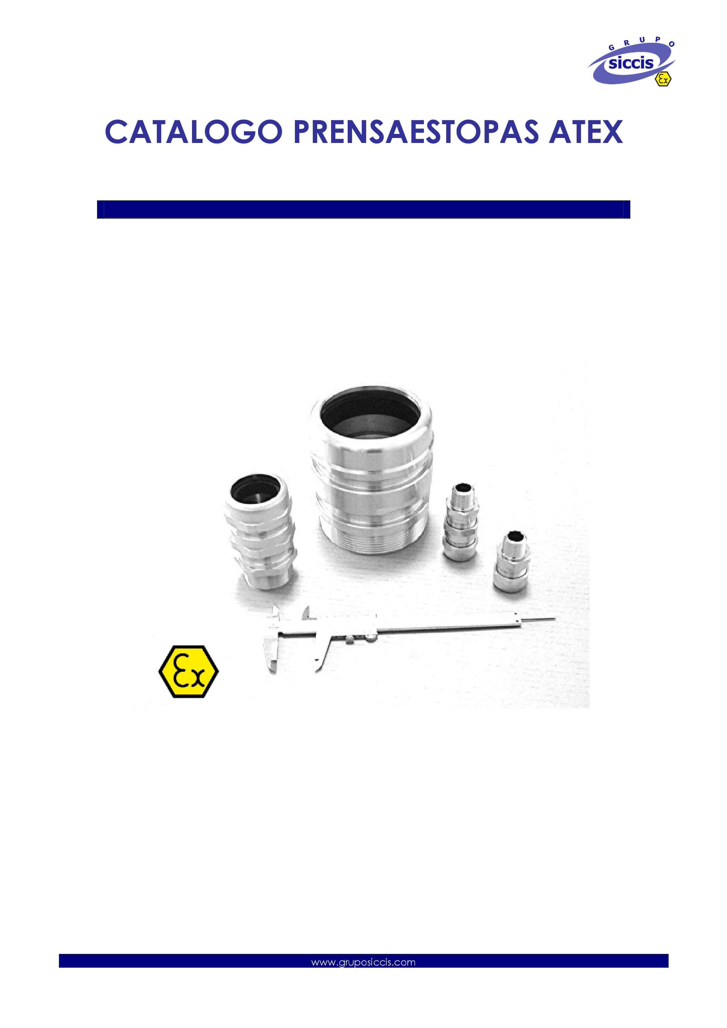 Catálogo de prensaestopas ATEX