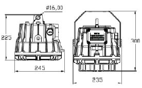 Dimensiones luminarias LED suspensión ATEX