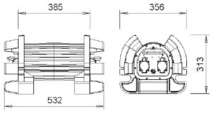 Dimensiones transformador CentaurSlam Trans 400EX