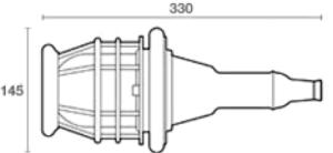 Dimensiones de lámpara de mano 439/GK ATEX