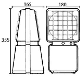 ATEX signal lamp dimensions