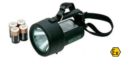 ATEX Handlamp with batteries