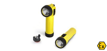 ATEX LED torches with batteries