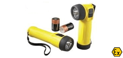 ATEX torches with batteries