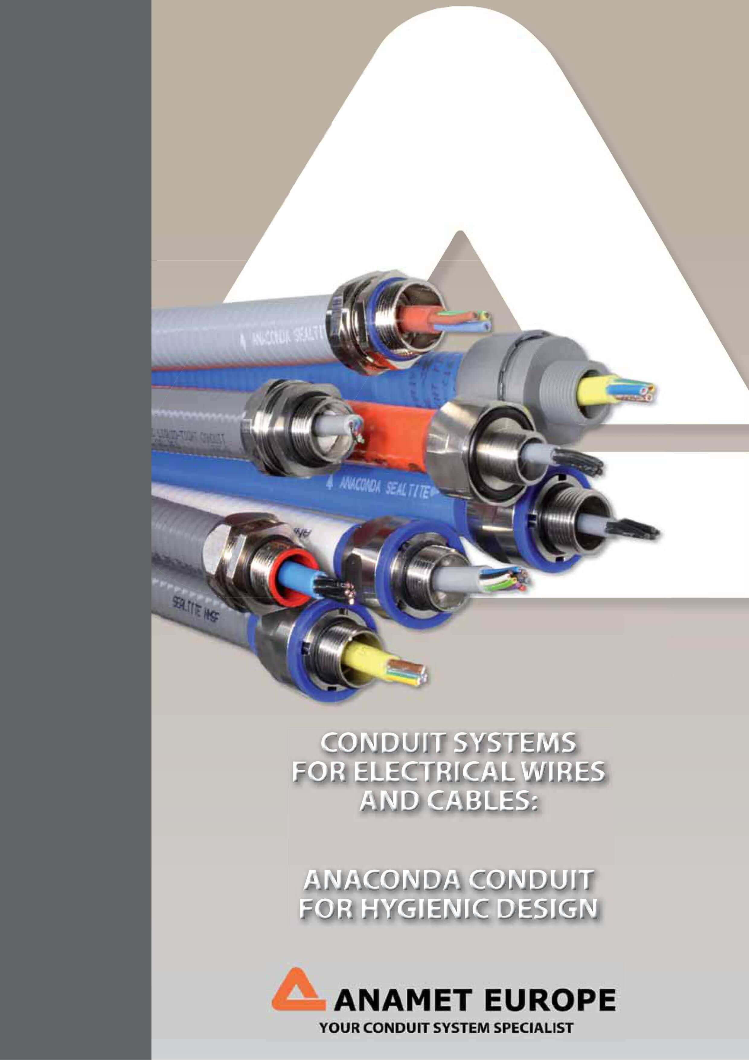 Conduits for food industry catalog