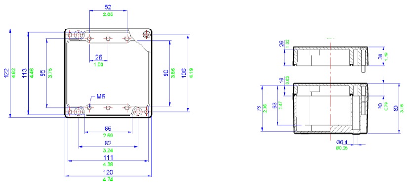 Dimensiones cajas de derivación ATEX