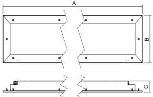 Dimensiones Fila-N LED