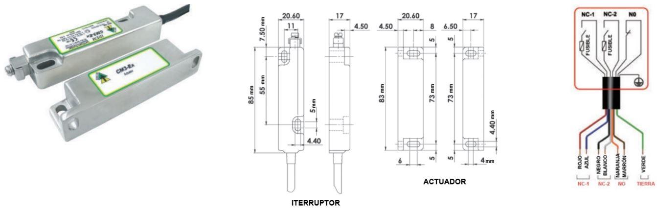 Interruptores de proximidad CM3-Ex