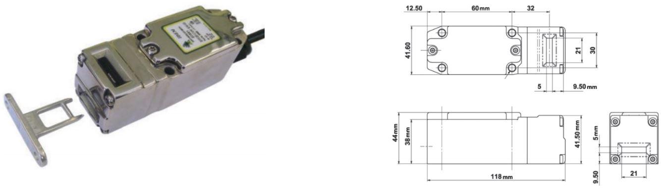 Interruptores de seguridad enclavables por lengüeta ATEX
