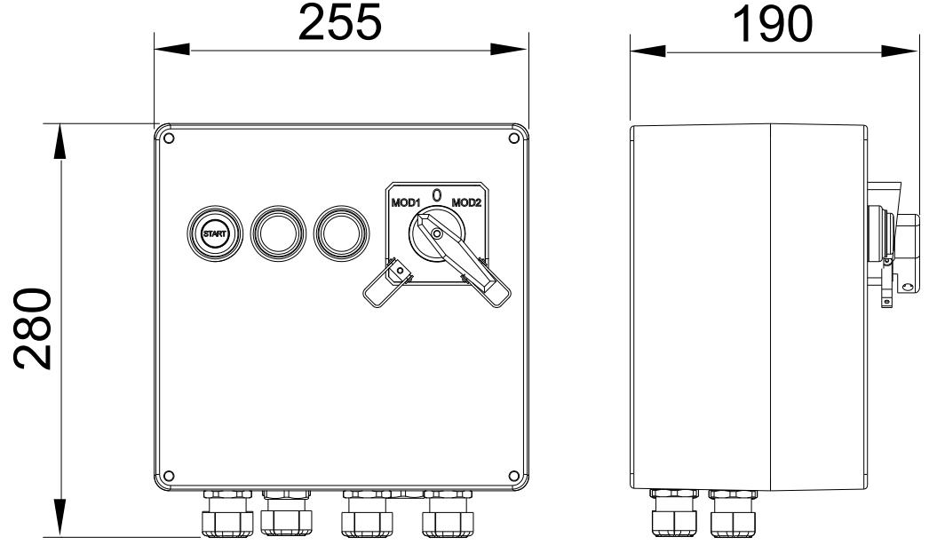 Dimensiones sistema puesta a tierra ATEX