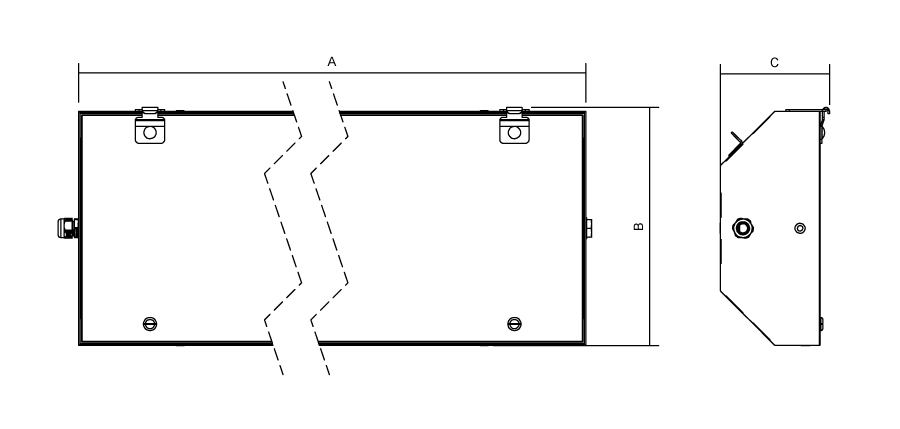 Plano luminaria LED ATEX