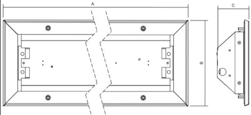 Dimensiones luminarias antivandálicas