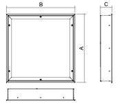 Dimensiones luminarias salas blancas