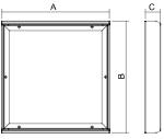 Dimensiones luminaria salas blancas