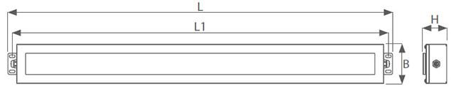 Dimensiones luminaria para temperaturas extremas